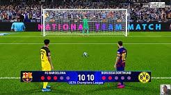 PES 2020 | Barcelona vs Borussia Dortmund | Penalty Shootout | UEFA Champions League UCL | Gameplay
