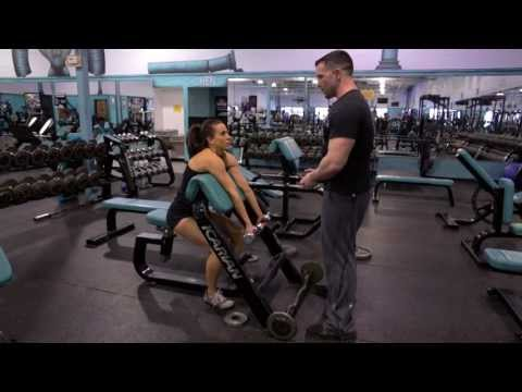 Bicep Exercise: Preacher Curls (Barbell and Dumbbell)