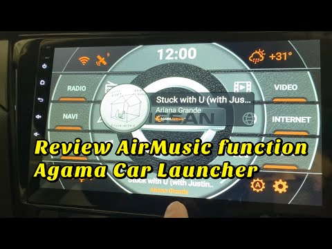 Review AirMusic function On Agama Car Launcher - Works With Spotify