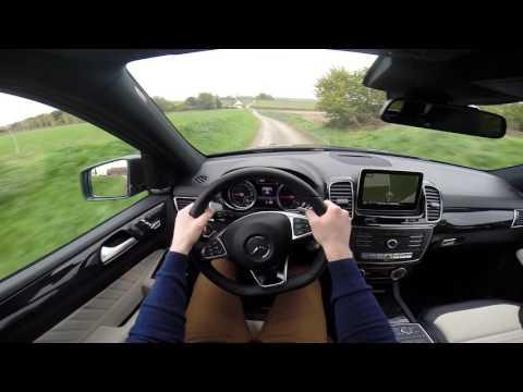Mercedes GLE 250d 4MATIC SUV 2015 POV test drive GoPro