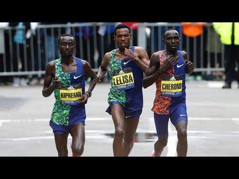 INCREDIBLE 2019 Boston Marathon Sprint Finish!