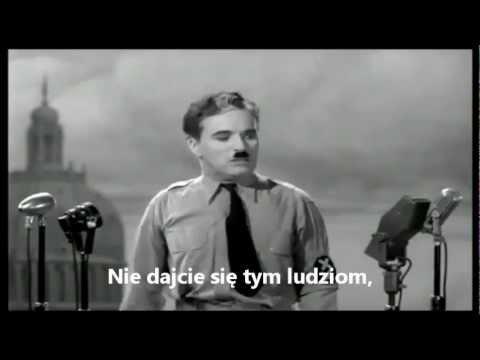 """""""Dyktator"""": Najlepsza przemowa w historii - Charlie Chaplin"""