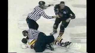 AHL Chicago-Utah hockey fight - Joe DiPenta vs Mike Sgroi 1/23/04
