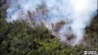 Sept. 6 aerial view of lava flow