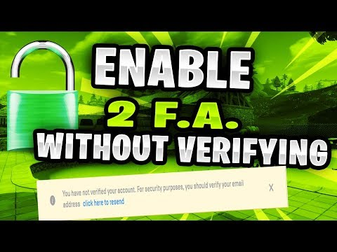 FORTNITE - HOW TO GET FULL ACCESS TO AN ACCOUNT WITHOUT VERIFYING (ADD 2FA WITHOUT VERIFYING HACK)