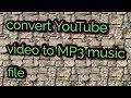 Convert any video in mp3
