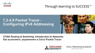 CCNA 1 ITN 7.2.4.9 Packet Tracer – Configuring IPv6 Addressing / Настройка IPv6-адресації