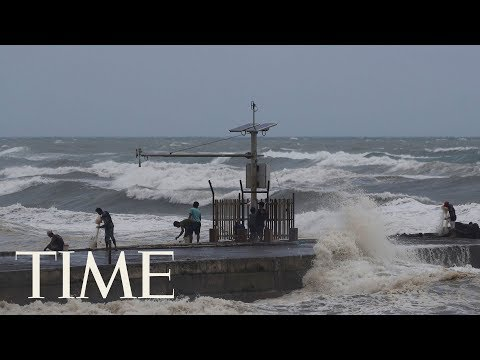 Footage Of Super Typhoon Mangkhut As It Approaches Northeast