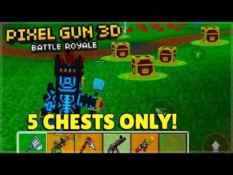 I CAN'T BELIEVE THIS HAPPENED! 5 CHESTS ONLY BATTLE ROYALE CHALLENGE! |  Pixel Gun 3D