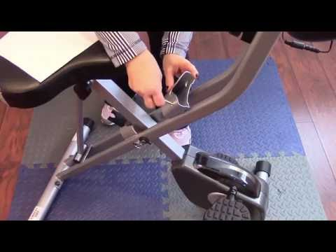 Exerpeutic Folding Magnetic Upright Bike with Pulse Assembly