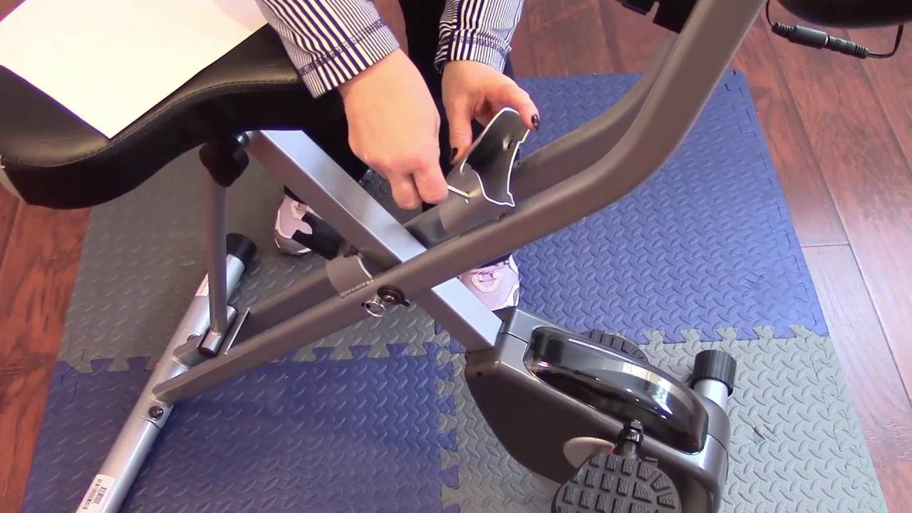 Exerpeutic Folding Magnetic Upright Bike With Pulse Assembly Youtube