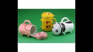 Чашка с ножками Тигренок / Свинка / Панда. Прикольные чашки оптом