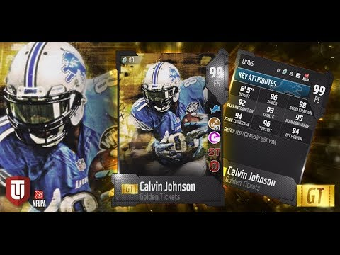 Madden 18 Golden Ticket Deshaun Watson And Calvin Johnson Now Live  Player Ratings Have Been Updated