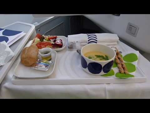 Finnair A350 Bangkok To Helsinki Business Class.