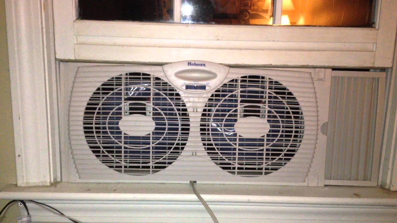 Holmes Window Fan : Holmes twin window fan youtube