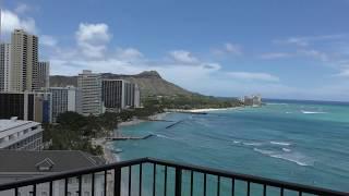 【4Kビデオカメラ Panasonic HC-VX980M】ハワイ モアナサーフライダー タワーウィングからの眺め!