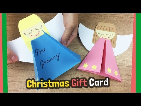 Cute Christmas gift card idea to do with kids - Very easy to make!