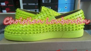 Christian Louboutin Rollerboy Spikes Yellow