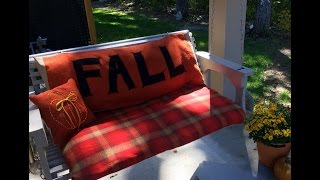 How To Make A Lettered Porch Swing Cushion For Fall