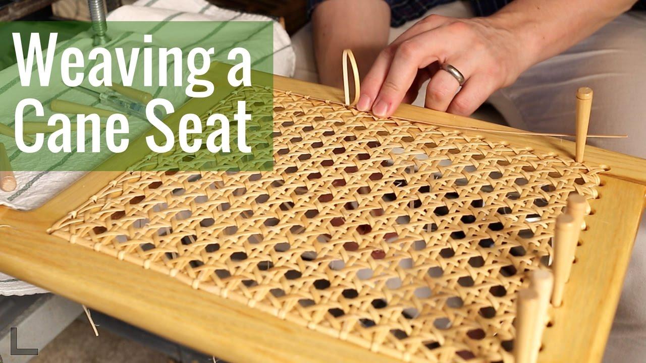 Weaving A Cane Seat Ep 16 Cedar Strip Canoe Build