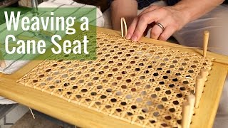 Weaving a Cane Seat (Ep 16 - Cedar Strip Canoe Build)