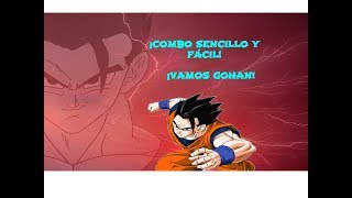 ¡COMBO FÁCIL Y SENCILLO DE GOHAN ADULTO! ¡HASTA UN 70% DE BARRA! - DRAGON BALL FIGHTER Z