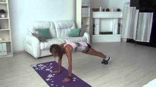 Как быстро убрать живот. Упражнения для плоского живота. Фитнес дома.