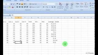 how to create marksheet in ms excel- (easy way)