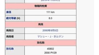 「(45802) 2000 PV29」とは ウィキ動画