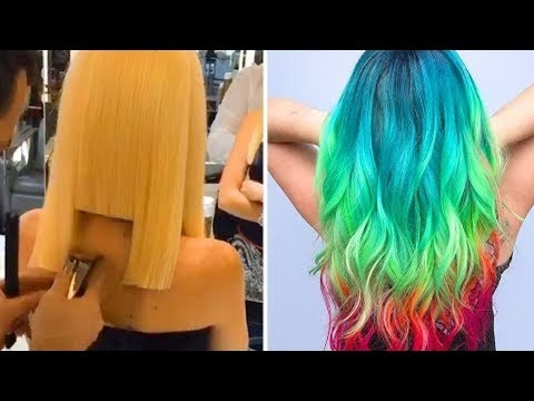 New Haircut and Color Transformations! 10 Amazing Beautiful Hairstyles Compilation 2018