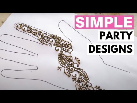 Four Minute Henna Party designs
