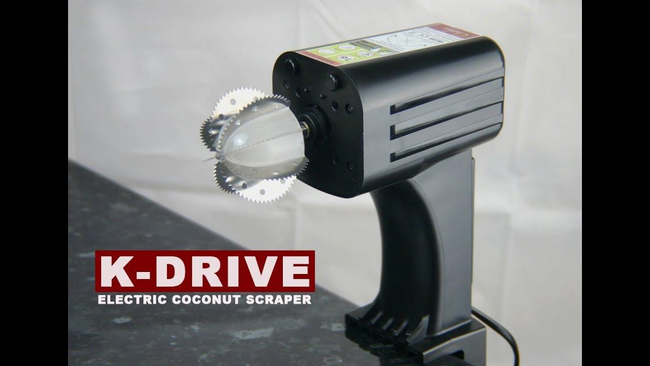 d1e5e123e Electric Coconut Scraper - K Drive - Kickstarter Project - YouTube