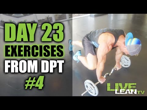 DAY 23: AFTERBURN DPT EXERCISES   WORKOUT #4   Live Lean Shred Ep. 23