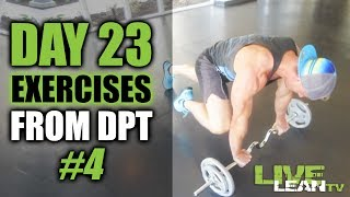 DAY 23: AFTERBURN DPT EXERCISES | WORKOUT #4 | Live Lean Shred Ep. 23