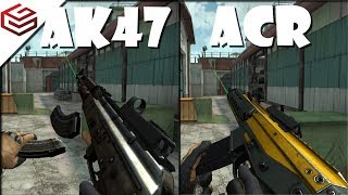 Bullet Force AK47 vs ACR | Which One Is Really Worth To Spend Your Gold??