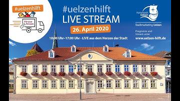 Uelzen hilft! Über 7 Stunden Live-Stream aus dem Alten Rathaus in Uelzen.