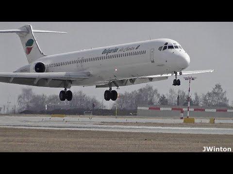 McDonnell Douglas MD-82 LZ-LDM Bulgarian Air Charter at Prague Airport