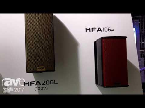 ISE 2017: NEXT-proaudio Displays HFA High Definition Portable Speakers