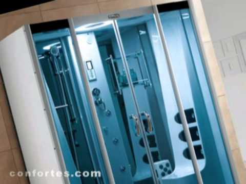 Cabinas de ducha cabinas de hidromasaje mamparas youtube for Cabinas de ducha medidas