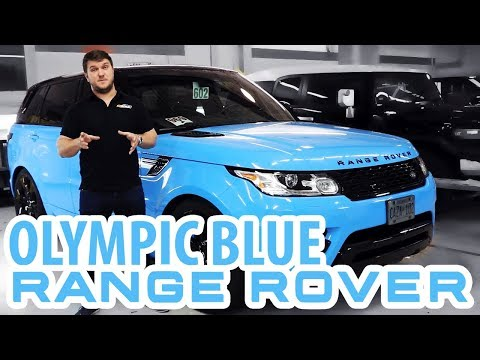 Range Rover Sport Supercharged Wrapped in Olympic Blue and B