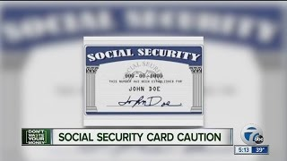 Social security card caution