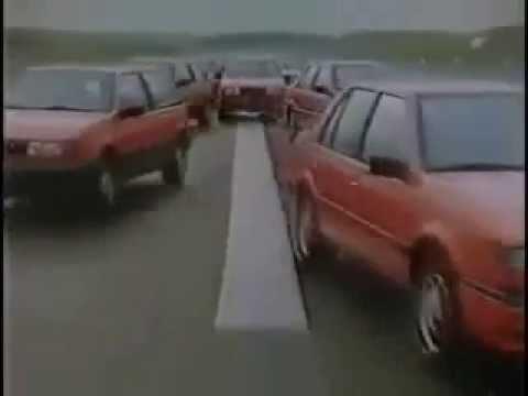1980s TV Commercial - ISUZU GEMINI Cars - Dancing in Paris - Real Car Stunts