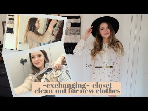 EXCHANGING My Closet Clean-Out For NEW CLOTHES  | Sip & Thrift | Crossroads Haul