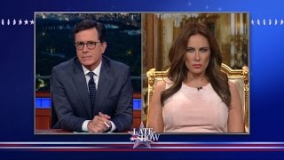 Melania Trump Blames Everyone But Donald For His Locker Room Talk by : The Late Show with Stephen Colbert