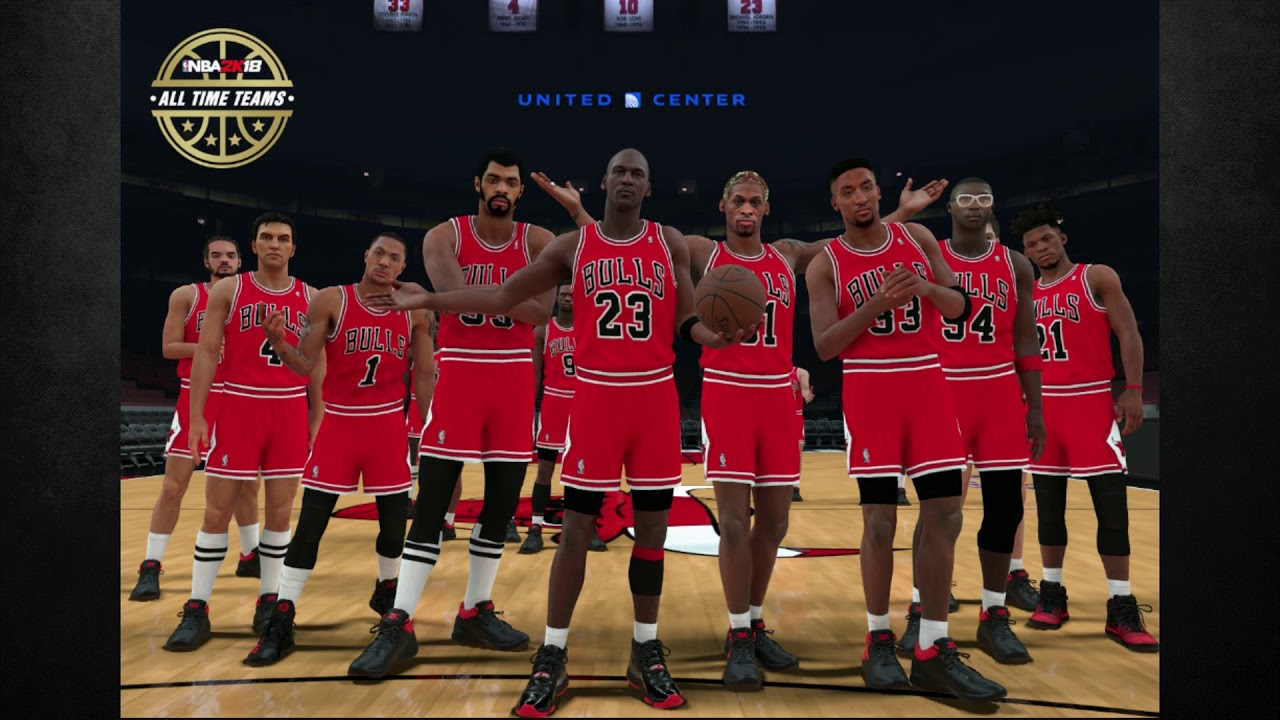 Nba 2k18 the all time chicago bulls roster michael jordan derrick nba 2k18 the all time chicago bulls roster michael jordan derrick rose more voltagebd Images