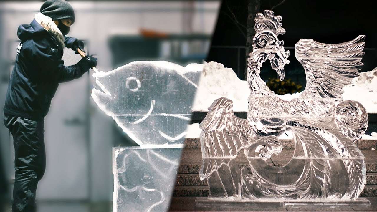 How A Master Ice Sculptor Makes Ice Come Alive