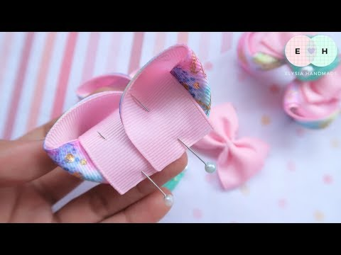 Amazing Ribbon Bow - Hand Embroidery Works - Ribbon Tricks & Easy Making Tutorial #67