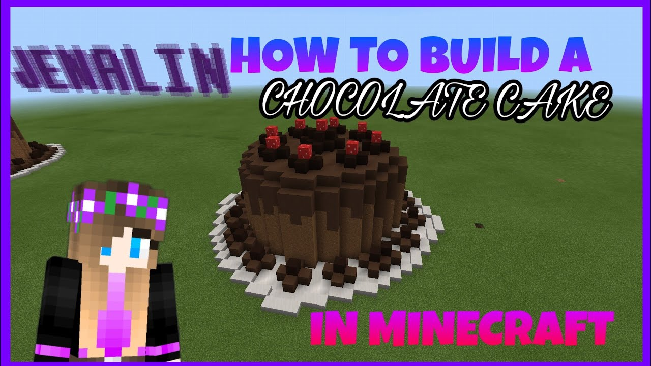 How To Build A Cake In Minecraft Youtube