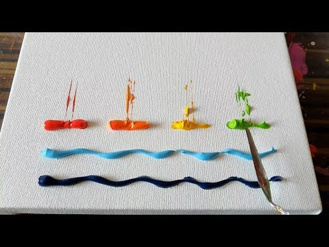 Cute & Simple / Sail Boats / Abstract Painting Demonstration / Daily Art Therapy / Day #04