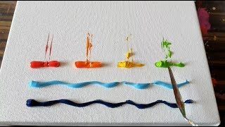Cute & Simple / Sail Boats / Abstract Painting Demonstration / Daily Art Therapy / Day #04 thumbnail